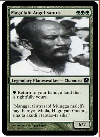 angel santos magic card