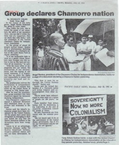 Group Declares Chamorro Nation
