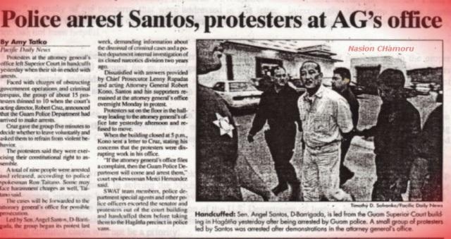 PDN - 10-21-1998 - Police arrest Santos protestors at AG's office - Blog